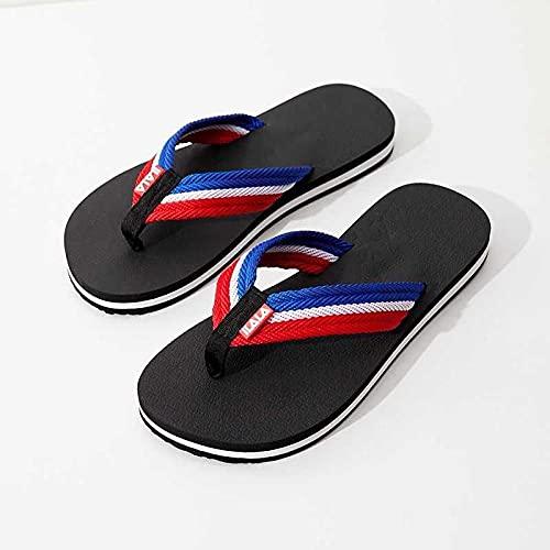Ririhong Chanclas de Verano para Hombre, Zapatillas Casuales, Ropa para el hogar, Sandalias Antideslizantes, Zapatos de Playa, Lazy drag-46_Black_1