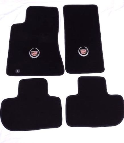 Avery's Floor Mats Part Compatible with Cadillac CTS Black Carpet 4Pc Set - Licensed Cadillac Crest Logo on Fronts - fits 2008-2010 (All Wheel Drive)