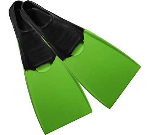 Deep Blue Gear Aquanaut II Fins for Diving, Snorkeling, and Swim, Adult Size 5-6, Green