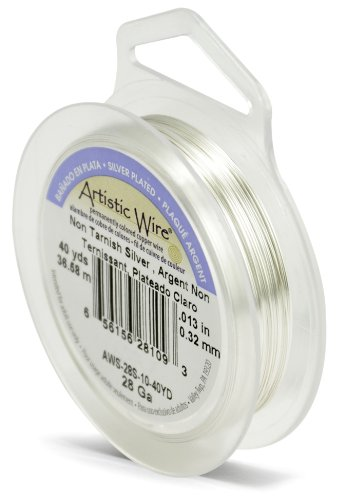 Artistic Wire 28-Gauge Tarnish Resistant Silver Wire, 40-Yard
