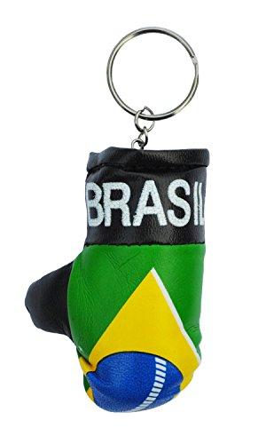 Keyrings Brazil Mini Gepolsterter Boxhandschuh Schlüsselring - (Boxing Glove