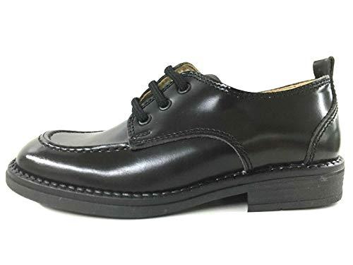 Walk Safari 9117 Chaussures de sport pour enfant en cuir - Noir - 31