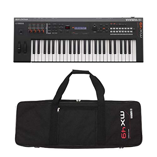 Find Bargain Yamaha MX49BK 49-Key Keyboard Synthesizer Black with Yamaha MX49 Black Gig Bag