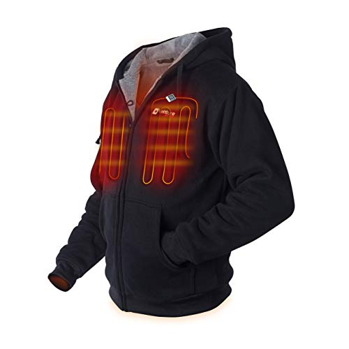 Venture Heat Heated Hoodie with Battery - Plush Thick Fleece, Electric Sweater Jacket Men Women,...