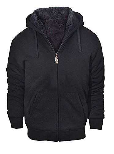 GEEK LIGHTING Mens Outdoor Recreation Fashion Active Jersey Slim Fit Hoodie Sweatshirts Black Large