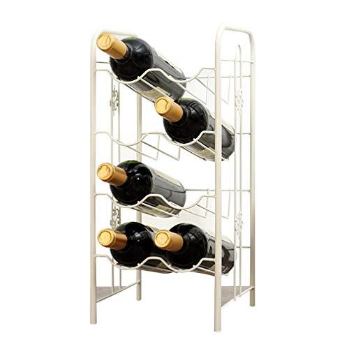 GAXQFEI Estante de Vino Puesto Gratis para 8 Botellas Encimera Tapa de la Botella de Vino Moderno Diseño Minimalista para Los Amantes Del Vino (Tamaño: 22 * 23 * 48Cm)