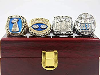 NY 1986 1990 2007 2011 New York S uper bowl Championship  Giants Replica Ring with Box Gifts for Mens Women Kids Fathers boys  9
