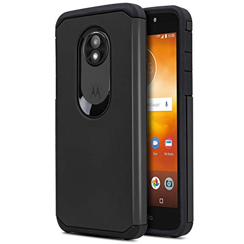 CasemartUSA Phone Case for [Motorola Moto E5 GO/Play/Cruise (Verizon)], [DuoTEK Series][Black] Shockproof Cover Defender for Motorola Moto E5 Go/Play/Cruise (Verizon Wireless Prepaid Phone)