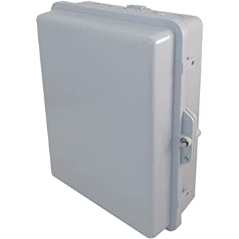 "Altelix NEMA Enclosure 14x11x5 (12"" x 8"" x 4"" Inside Space) Polycarbonate + ABS Weatherproof Tamper Resistant NEMA Box"