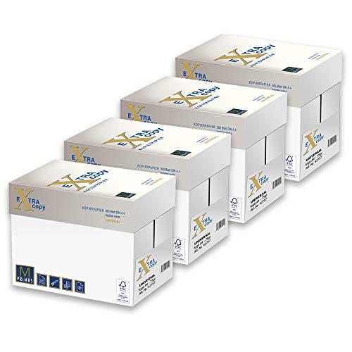 Primus Extra Copy 75gr Carta A4 per fotocopiatrici e stampanti 75gr mq, Formato A4, confezione da 20 Risme