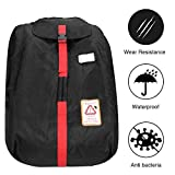 MODOKIT 1680D Durable Car Seat Travel Bag Backpack, Airplane Gate Check Bag with Storage Pouch, Car Seat Cover Backpack Carrier for Air Travel for Most Car Seats, Waterproof Car Seat Bag