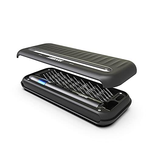Juego de destornilladores eléctricos, acero S2, kit de destornilladores recargables con luz LED, para teléfonos móviles, tabletas, herramientas de reparación electrónicas