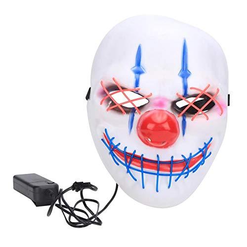 Xinde Máscara de Halloween Light Up, Puerto de Escape único Máscara de Halloween, Interesante, Plegable, 4 Modos, diseño ergonómico, mascaradas, Mardi Gras para Fiestas de Disfraces, Halloween
