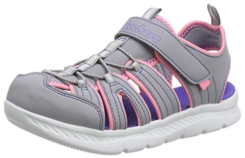 Skechers Mädchen C-Flex 2.0 Römersandalen Sandalen, Grau (Gray Pu/Pink Gypk), 30 EU