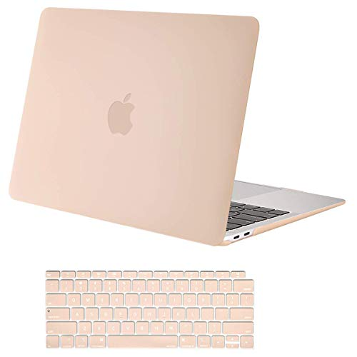 MOSISO MacBook Air 13 inch Case 2020 2019 2018 Release A2337 M1 A2179 A1932, Plastic Hard Shell Case & Keyboard Cover Only Compatible with MacBook Air 13 inch with Retina Display, Camel