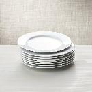 White Porcelain Salad Plates Set of 8 | Crate and Barrel