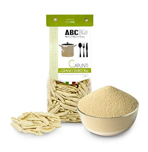 Carioni Food & Health Organic Hard Wheat Pasta Capunti, Traditional Apulian Size, 500 g (Pack of 12)