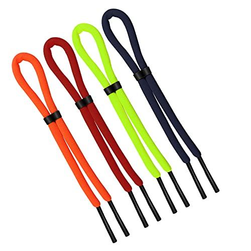 AIEX 4 Piezas 66cm Correa Flotante para Gafas de Sol, Sujeta Gafas de Sol Ajustable Cinta de Gafas Anti-Pérdida para Deportes Acuáticos Paseos en Bote Kayak Surf Hombres Mujeres (4 Colores)