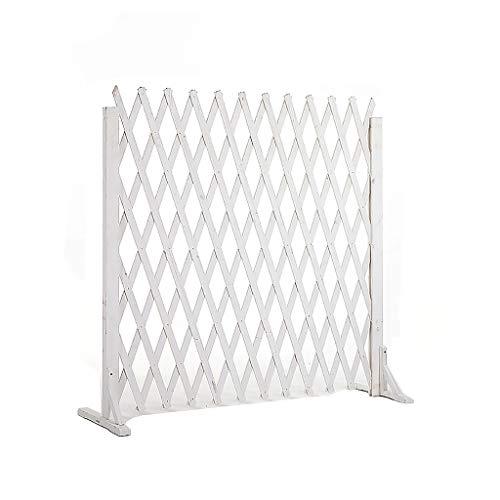 Zaun/Teleskopholzzaun/Balkon dekorativer Zaun/Garten Gitter Dekoration/Indoor-Partition/Tier Zaun/Raststätte Trennwand (Color : A, Size : H115cm)