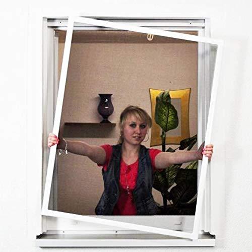 Standard Fliegengitter für Fenster als Alubausatz mit Fiberglasgewebe - Insektenschutz - 100 cm x 120 cm | Rahmen in weiß