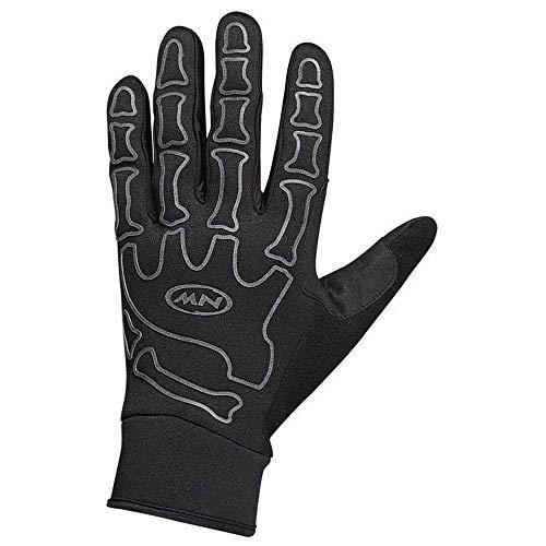 Northwave Skeleton W-Gel Fahrrad Handschuhe lang schwarz/Reflective 2020: Größe: S (8)