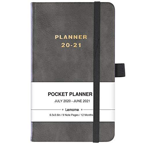 Taschenkalender 2020 – Wochen- und Monatsplaner – elegantes Leder mit Stifthalter, Innentasche, verbunden, 16,4 x 9,9 cm