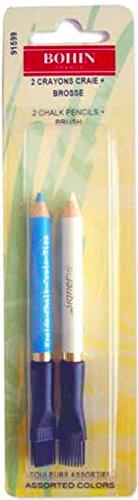 Bohin Fabrics Dressmakers Pencils Small + Brush, Wood Multi, 2x5x5 cm