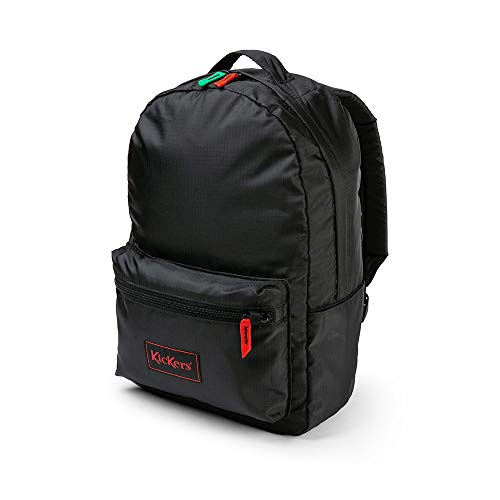 Kickers Ripstop Backpack, Black, One Size 20 Litres, Sac à dos Mixte, Noir