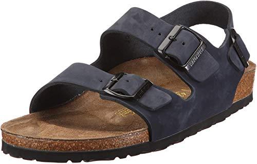 Birkenstock Milano Men's Slingback Sandal Denim Navy Nubuck 44 Narrow 334023