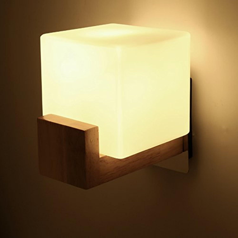 Modern LED Wandleuchte aus Massivholz 12x18cm Coffee Shop, Büro, Schlafzimmer, Hotel, Bibliothek.(86-265V, Leuchtmittel nicht enthalten) Vintage Retro Café Loft Bar Flurlampe, Wandlampe.
