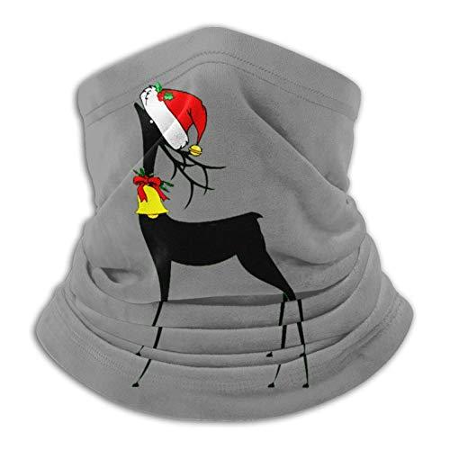 JONINOT Deportes Protectores faciales Reno de Navidad Papá Noel Calentador de cuello Bufanda de cuello transpirable a prueba de viento Unisex Fiesta Bufanda mágica Pasamontañas