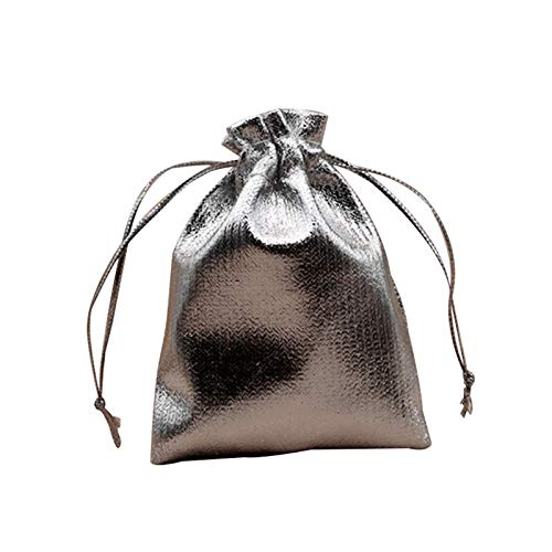 jieyun Gold Foil Candy Gift Bags for Christmas Decoration Wedding Party Favor Pouch Gift Packaging Drawstring Bags - Gold/Silver