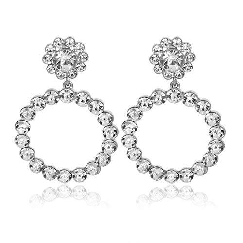 Arete Cruz Muchos Pendientes De Perlas De Cristal Niñas Mujeres Ronda Perla Pendientes Simples Joyas Mejores Regalos Para La Fiesta De La Oficina DePlata