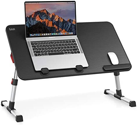 [Large Size] Laptop Bed Tray Table, SAIJI Adjustable...