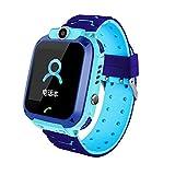 Q12 Smart Watch Kid Smartwatches Montre bébé 1,44 Pouces Chat Vocal GPS Finder Bleu