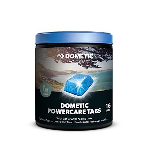 DOMETIC Power-Care Tabs fürs Camping-WC: Hochwirksamer Sanitär-Reiniger für ihre Chemie-Toilette. Zersetzt Fäkalien und verhindert unangenehme Gerüche. Die einfache Alternative zu Sanitär-Flüssigkeit
