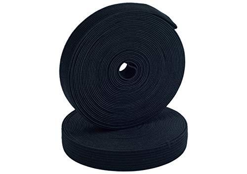 Gigi Crafts Elastic Band for Sewing Elastic Spool High Elasticity 0.6 inch x 5 Yards Black.