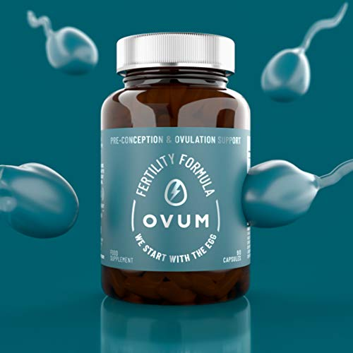OVUM Fertility Supplement with MicroActive CoQ10, Methylfolate and Zinc | We Start With The Egg  | Most Scientifically Advanced Supplement for Pre-Conception and Ovulation Support | Made in the U.K.