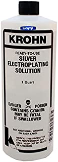 Bright Silver Electroplating Solution 1 Quart Jewelry Plating Bath Metal Pieces