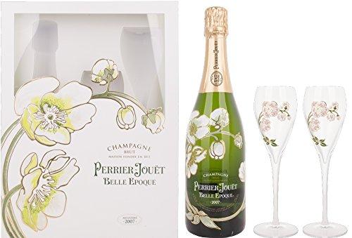 Perrier Jouet Belle Epoque Blanc Brut mit Geschenkverpackung mit 2 Gläsern 2007 (1 x 0.75 l)