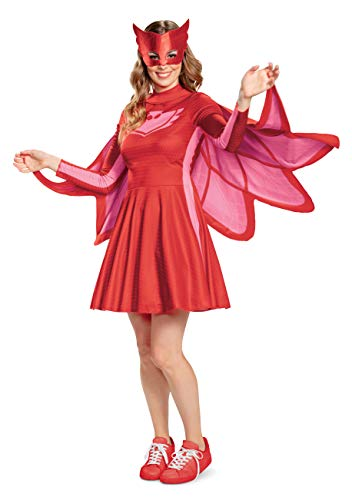 Disguise Women's Owlette Classic Adult Costume, Red, M (8-10)