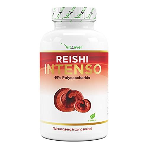 Seta Reishi - 180 Cápsulas - 1300 mg de extracto por dosis diaria - 40% de polisacáridos bioactivos - Vegano - Power Mushroom - Ganoderma lucidum