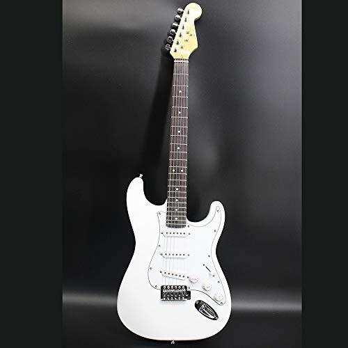 ABMBERTK Neuzugang Hochwertige 38 Zoll weiße E-Gitarre, weiß, 38 Zoll