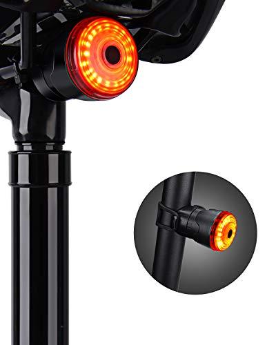KOYOSO LED Luce Posteriore Bici Intelligente, Impermeabile USB Ricaricabile LED Lampada Fanale...