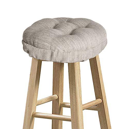 baibu Hocker-Bezüge, rund, super weich, rund, Barhocker, Sitzkissen, nur Kissen (beige, 30 cm)