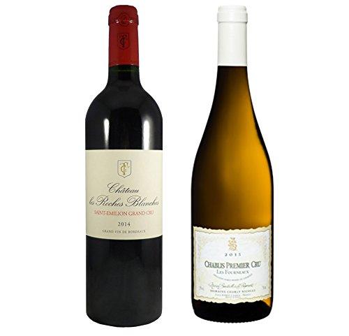 Le Wine Club Crus de Bordeaux/Bourgogne/Saint Emilion Grand Cru Vs. Chablis 1er Cru 75 cl, Boîte de 2 Grands
