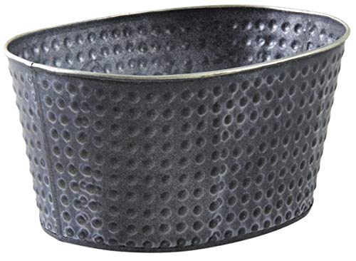 AUBRY GASPARD Corbeille Ovale en métal Noir laqué Mat