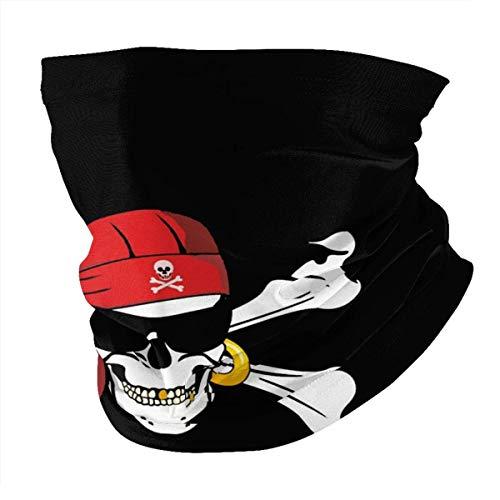 LAKILAN Banda Elástica Ultra Suave,Diademas para Exteriores,Cubierta Facial,Sombreros Sin Costuras,Pañuelo Deportivo Bandera Pirata Gafas De Sol Parche En El Ojo Calavera Jolly Roger