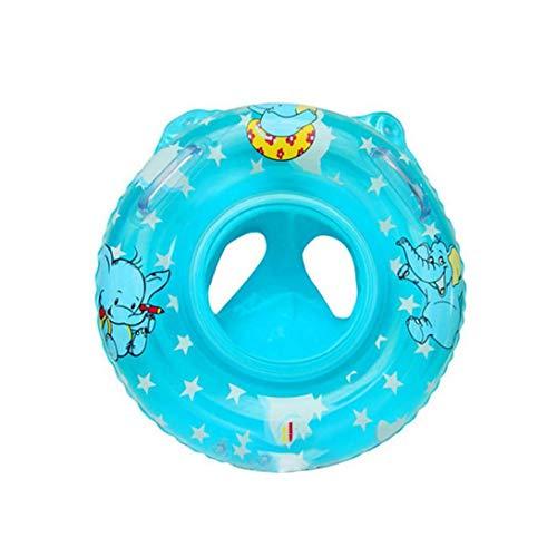 Baby-Schwimmen-Ring-aufblasbare Schwimmer Schwimmen-Ring Für Kinder Kleinkind Kleinkind Mit Sicherheit Sitz Boot Pool Schwimmen Ring Early Learning Spielzeug - Blau