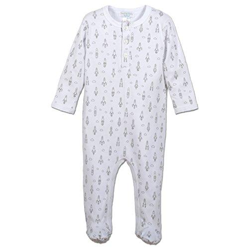 Plumas bebé niños ropa Pima algodón Pelele de manga larga Henley Sleep 'n Play Footie - -